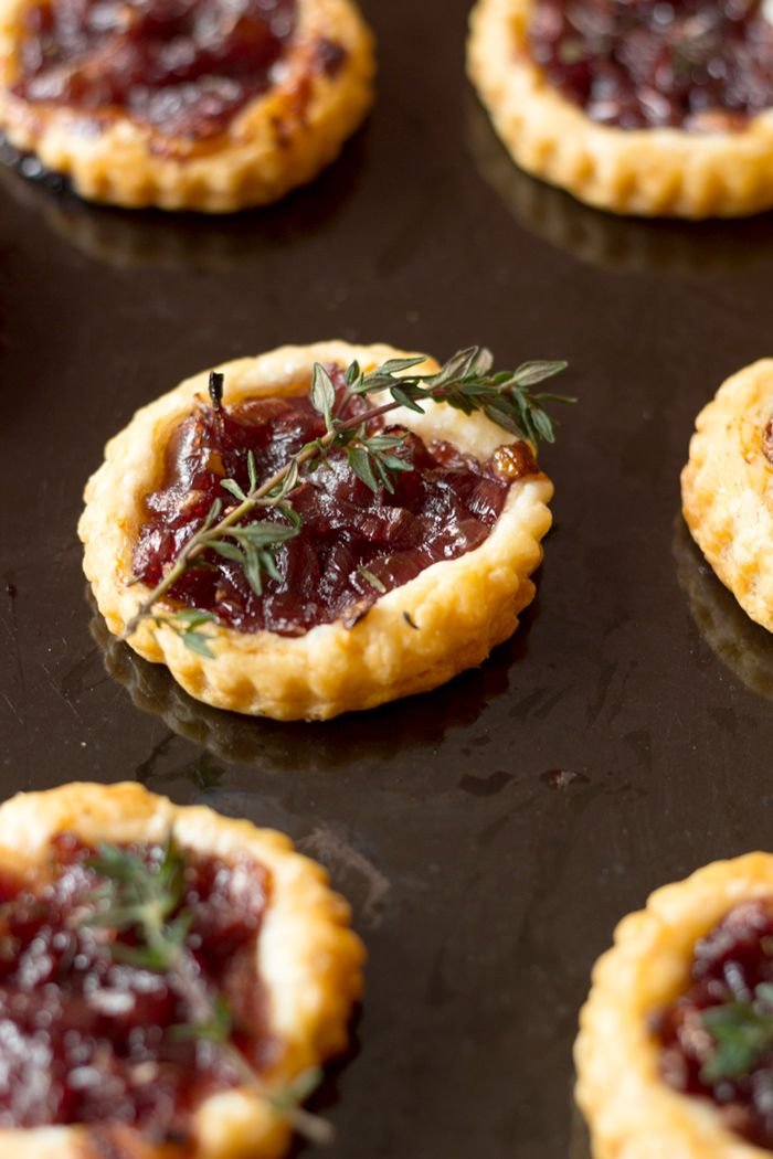 Delicious onion confit tartlets, a must have on the French table for Christmas or New Year Eve ! Enjoy !                                                                                                                                                                                 More