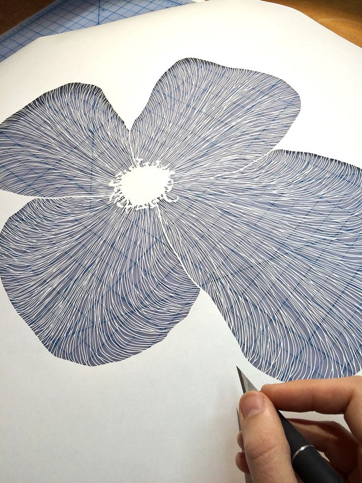 Paper-cutting artist Maude White (previously) continues to astound us with her painstaking illustrations cut from single sheets of paper. Limited to only negative and positive space, she explores poetic compositions of line and shape as she renders each piece with a knife. White is currently worki