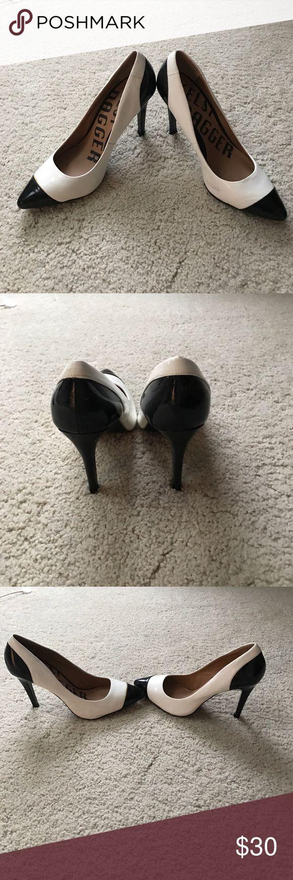 """Kelsi dagger pumps 8.5 Never worn. Off white with black detail. 4"""" heel Kelsi Dagger Shoes Heels"""