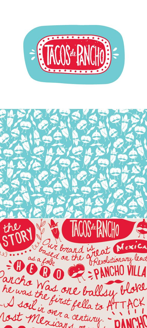 Tacos de Pancho branding