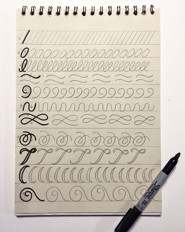 Hand lettering for beginners warmup exercise