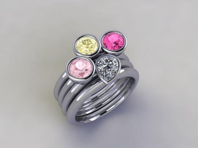 'Cosmopolitan' stacker ring www.lucymecklenburghjewellery.com in association with www.diamondgeezer.com