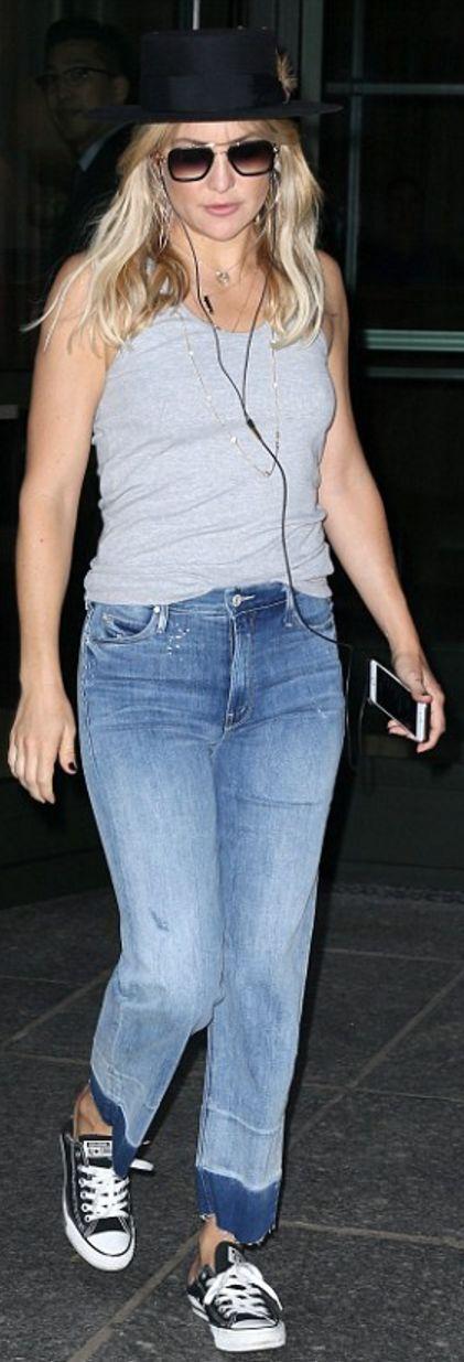 Kate Hudson wearing Agua Bendita, Mother, Converse and Jennifer Meyer