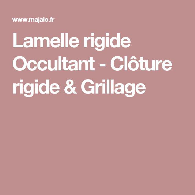 Lamelle rigide Occultant - Clôture rigide & Grillage