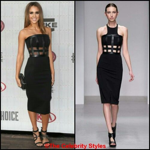 Hollywood actress Jessica Alba wore a David Koma Fall 2014 black strapless dress to the Spike TV's 'Guys Choice' Awards on 7th June at the Sony Studios in Los Angeles, California. She matched it with a pair of Hugo Boss black ankle-strap sandals and a Diane Von Furstenberg clutch!  #jessicaalba #davidkoma #FW2014 #Fall2014 #dress #guyschoice #LA #california #hugoboss #sandals #heels #dianevonfurstenberg #bag #clutch #hollywood #actress #alba #black #hot #sexy #beauty #celebrity #whowearswhat…