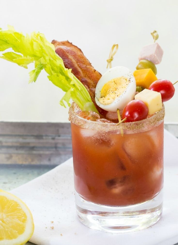 Bacon and Egg Caesar Cocktail Recipe #cocktail