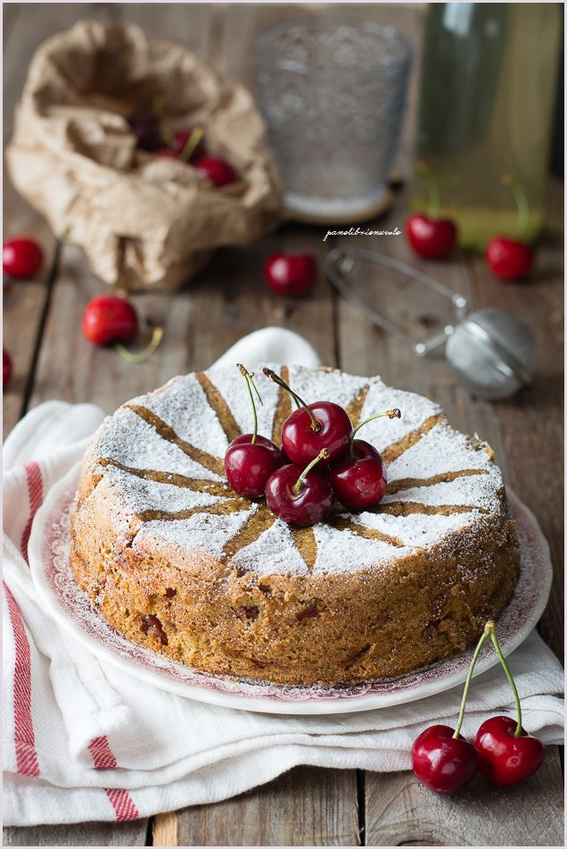 Cherries Pistachio Cake