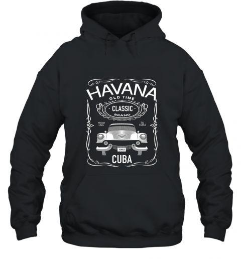 Cuban Classic Car T Shirt. Classic Car Tee. Havana Car Tee Hooded