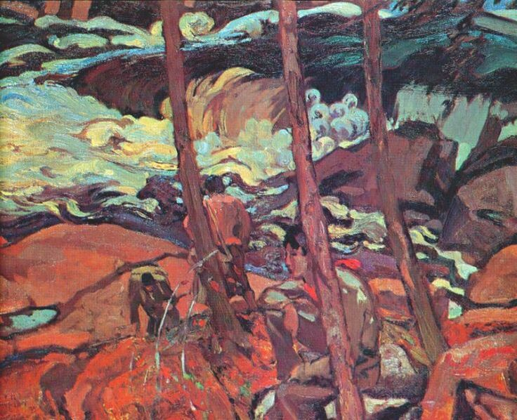 Frederick-H-Varley-Mountain-Portage-1925.