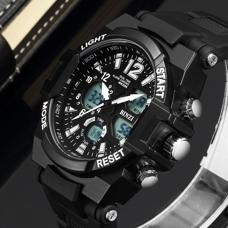 BINZI Luxury Brand Sport Watches Men's Wrist Watch Fashion Casual Silicone Wristwatch LED Digital Male Clocks Relogio Masculino-in Digital Watches from Watches on Aliexpress.com | Alibaba Group