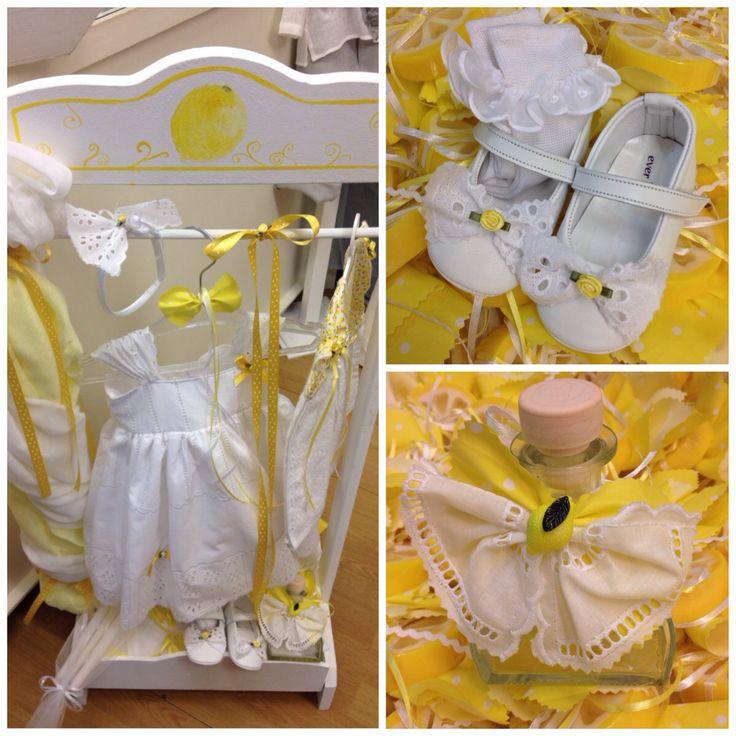 Baptism, girl, lemon