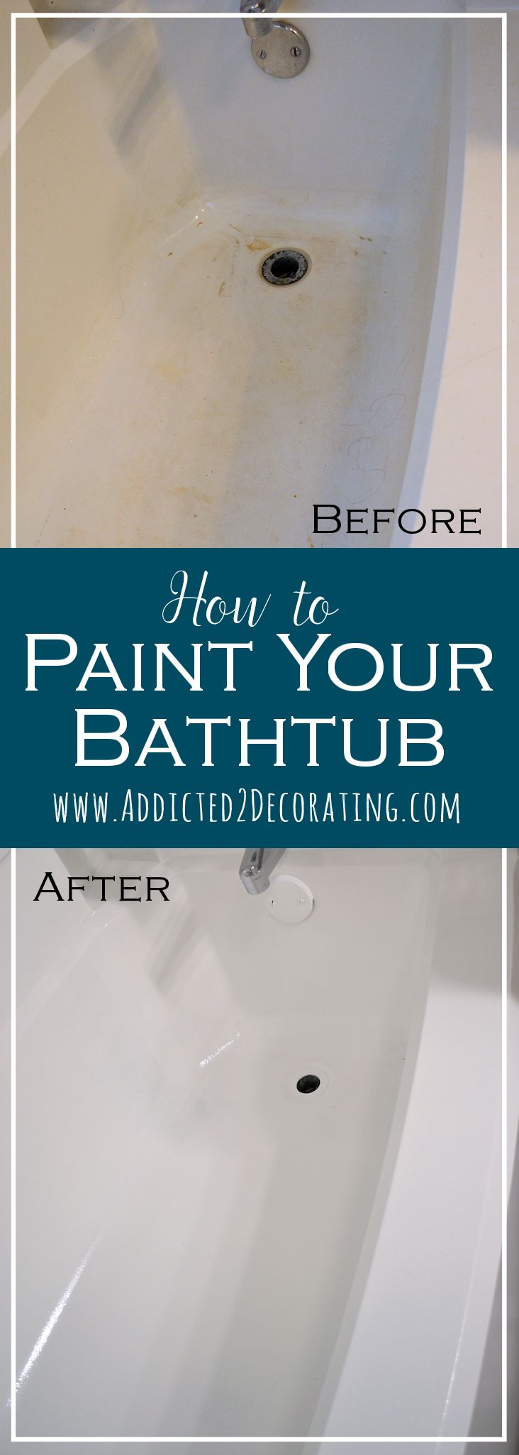 How to paint your bathtub - before and after. Our tub is painted already but it's chipping. This might be a job for Patrick