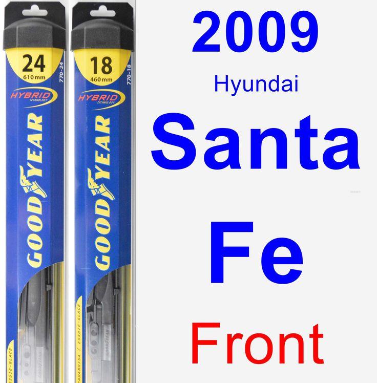 Front Wiper Blade Pack for 2009 Hyundai Santa Fe - Hybrid