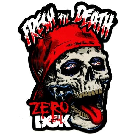 Dgk zero fresh til death vinyl sticker