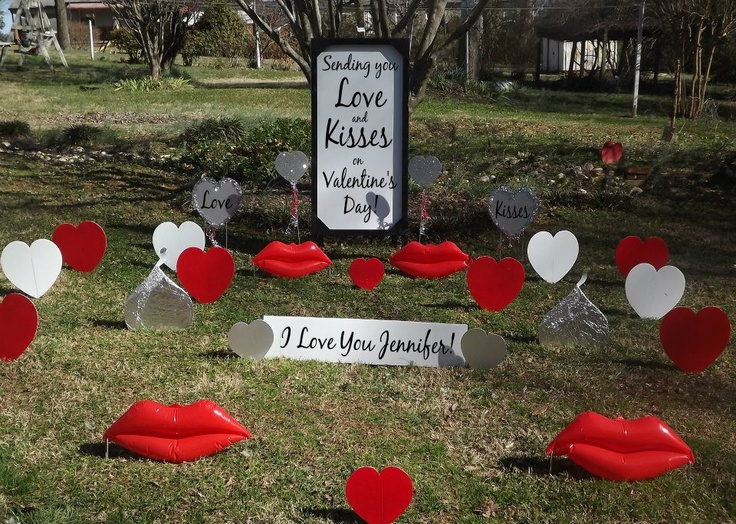 valentine's day lawn ornaments