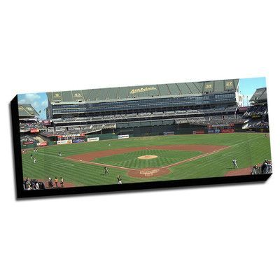 Picture it on Canvas Oakland Baseball Stadium Photographic print on Wrapped Canvas