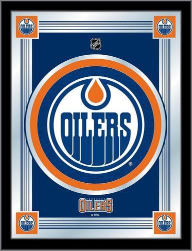 Edmonton Oilers Logo Mirror Wall Art