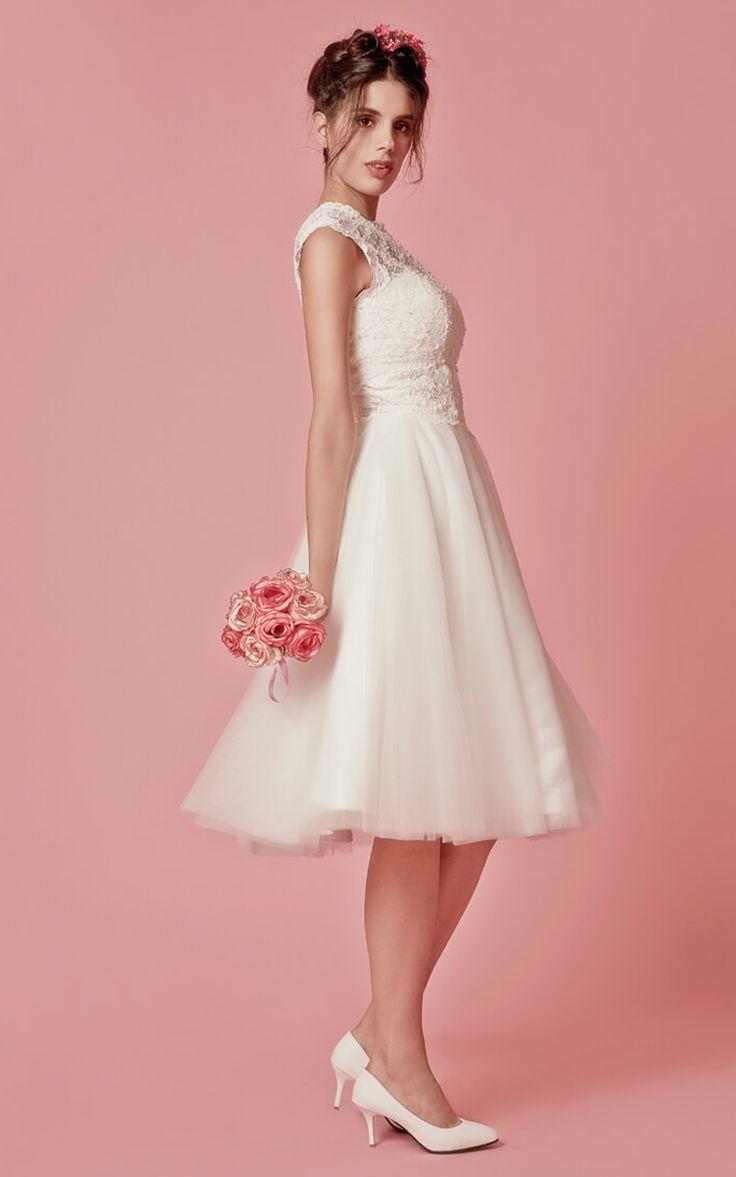 Mejores 1101 imágenes de Novias de Corto en Pinterest | Vestidos de ...