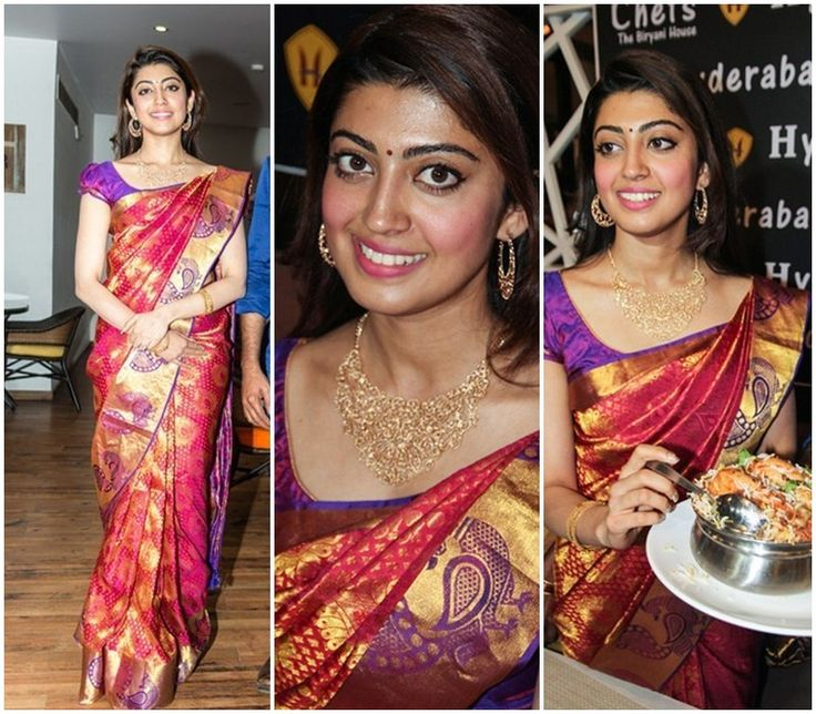 Pranitha In Kanjeevaram Silk Saree