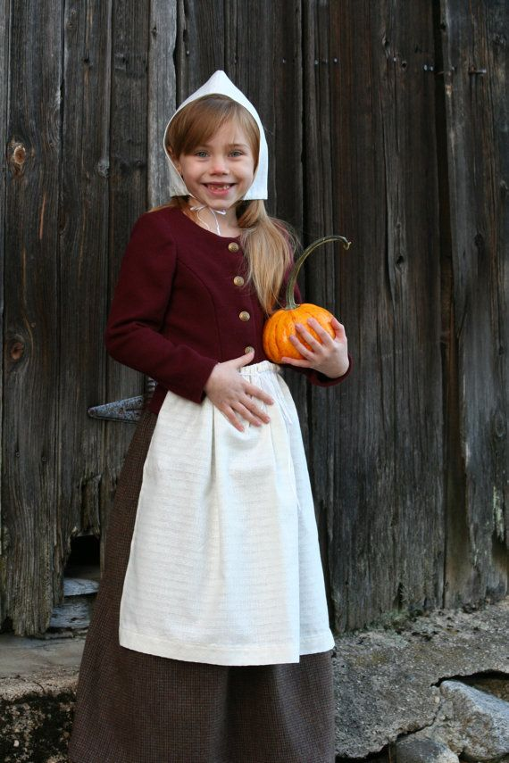 Pilgrim Girlu0027s Costume - Authentic Pilgrim Costume - Choose Your Size - 5-pc.  sc 1 st  Pinterest & How-To: Sew Childrenu0027s Pilgrim Costumes for less than $5 | Little ...