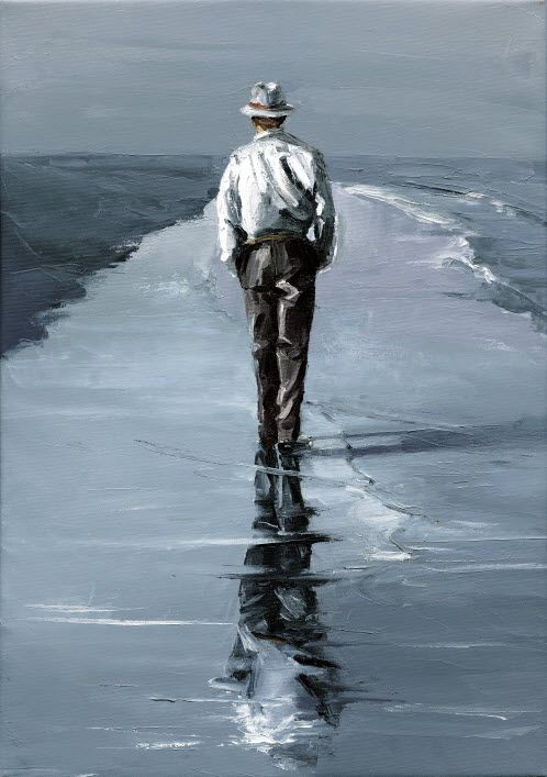 """paintings by Victor Bauer: """"Walking Man"""""""