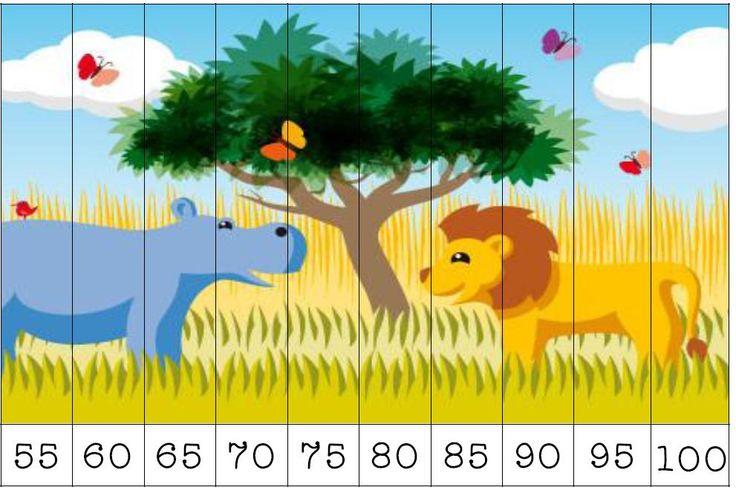 Atelier pour compter par bonds de 2,5 et 10