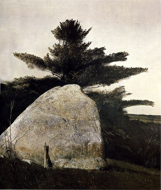 Andrew Wyeth 'Far from Needham' 1966 by Plum leaves, via Flickr: