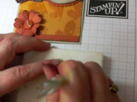 Make flowers with Stampin' Up!'s Scallop Circle Punch