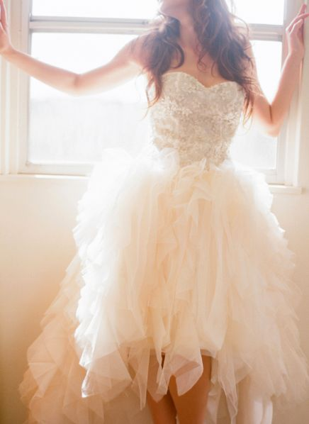 Chances are I'll never get married again but I have the urge to throw this on with my combat boots (or maybe cowboy boots) and Go turn some heads at the range. Oooh maybe I can wear it to my fake wedding.