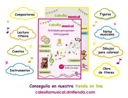 Material didáctico para la enseñanza de música. https://www.facebook.com/calesitamusical.com.ar
