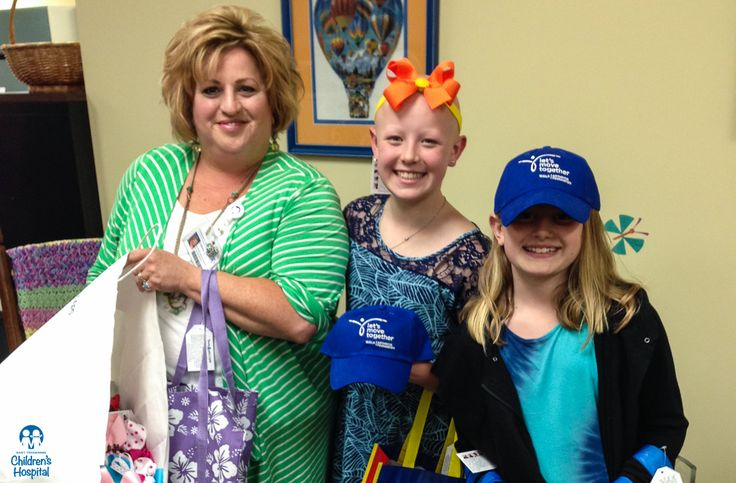Hannah Grubbs, age 12, along with her 10-year-old sister Sara, recently made a second visit to Children's Hospital to deliver hair bows, caps and care packages for patients. Hannah started her charity, Bows and Ballcaps, in 2013 to help patients dealing with hair loss related to a medical condition. Hannah lost all of her hair to alopecia areata, an autoimmune disorder, before age 1. Thanks Hannah!