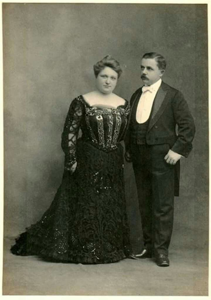 Mr. and Mrs. Frank Seiberling, circa 1890. He was a founder of Goodyear Tire and Rubber Company and later the Seiberling Rubber Company in Akron, Ohio. She hailed from Willoughby, Ohio, where her father manufactured bricks and the machinery that generated them. They had seven children, were involved in and led myriad civic organizations, and built a home that still stands as an historic house museum, Stan Hywet Hall.