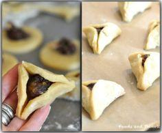 """Hamansoren - Het is een traditie om deze koekjes tijdens het Joodse poerimfeest klaar te maken. Het oorspronkelijke recept komt van de joden uit Spanje en Noord-Afrika. De koekjes zijn driehoekig en gewoonlijk met maanzaad/dadels/noten en chocolade gevuld. De vorm van deze lekkernij verwijst naar de oren van de """"boef"""" Haman. Hoe het met deze Haman is afgelopen kun je lezen in het bijbelboek Ester..."""