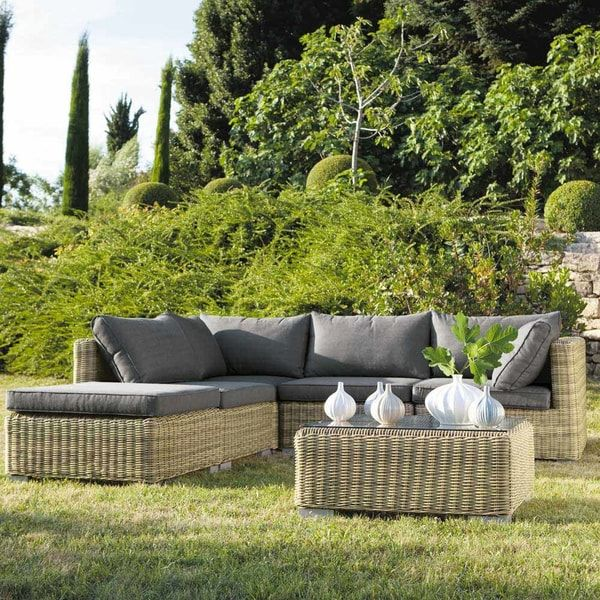 Wicker Garden Low Sofa St Raphaazl St Raphael Maisons Du Monde Us Garden Sofa Corner Sofa Garden Teak Patio Furniture