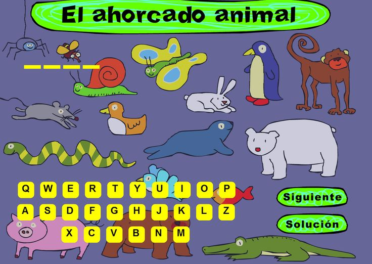 Hangman in Spanish: free and good for practicing animals in Spanish. Escuela infantil castillo de Blanca: EL AHORCADO DE ANIMALES