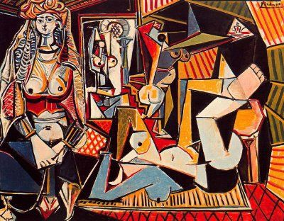 Women of Algiers (from Delacroix), II, ca. 1955 // Picasso