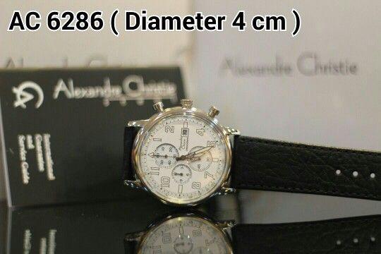 ALEXANDRE CHRISTIE 6286 Harga IDR 1.100.000 Material : Leather black - ring silver Diameter 4 cm Garansi mesin 1 tahun international