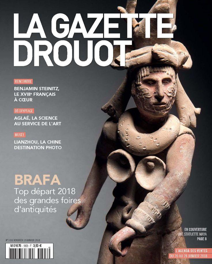 Gazette Drouot n°3 du 19 janvier 2018. #Maya #PrecolombianArt #Brafa #WebZine #GazetteDrouot #ArtMarket