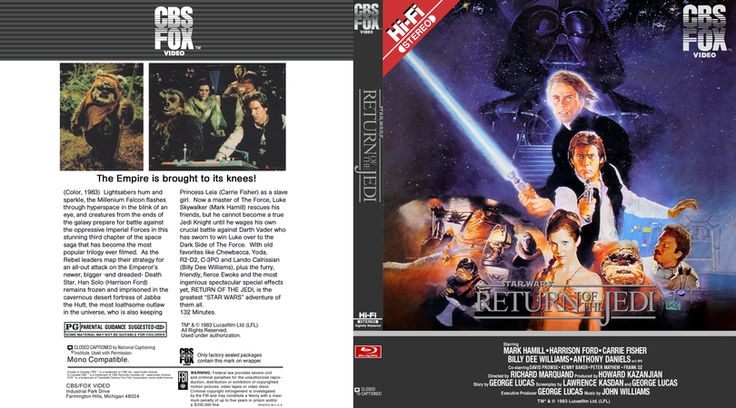 Star Wars Episode 6 Blu-ray Custom Cover