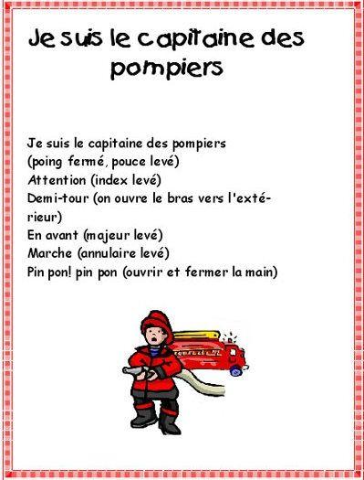 comptine pompiers
