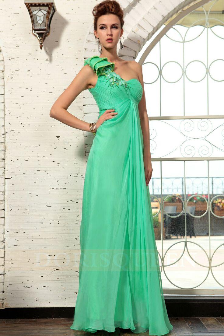 47 best Vestidos Verde Agua images on Pinterest   Evening gowns ...