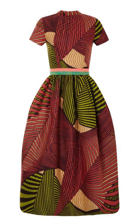 M'O Exclusive: Waxed Cotton Party Dress by Stella Jean - Moda Operandi