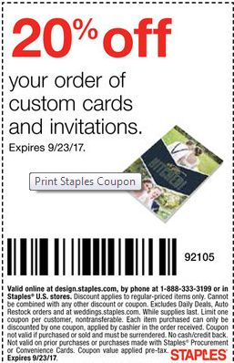 Use This Printable Coupon From Goodshop To Get Off Custom Cards And Invitations At Staples