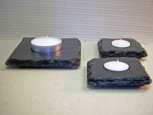 Schiefer teelicht 12x12 cm schieferladen schiefer for Schiefer deko
