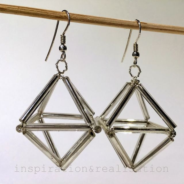 DIY himmeli earrings