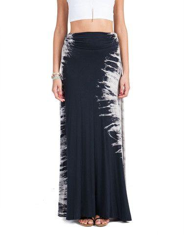 Foldover Tie Dye Maxi Skirt | 2020AVE
