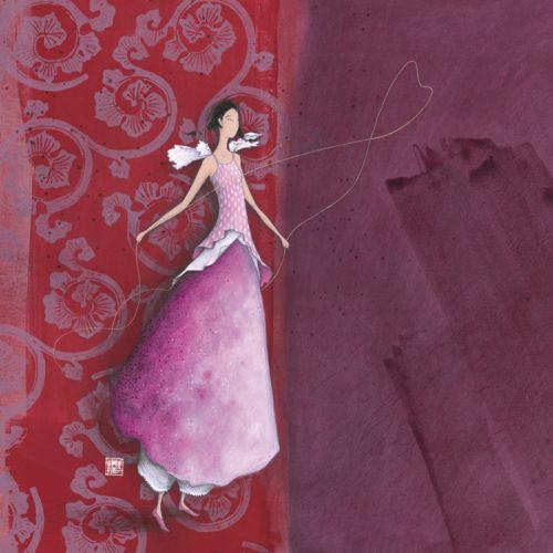 """Gaëlle Boissonnard postcard (16 x 16 cm) """"Coeur"""""""