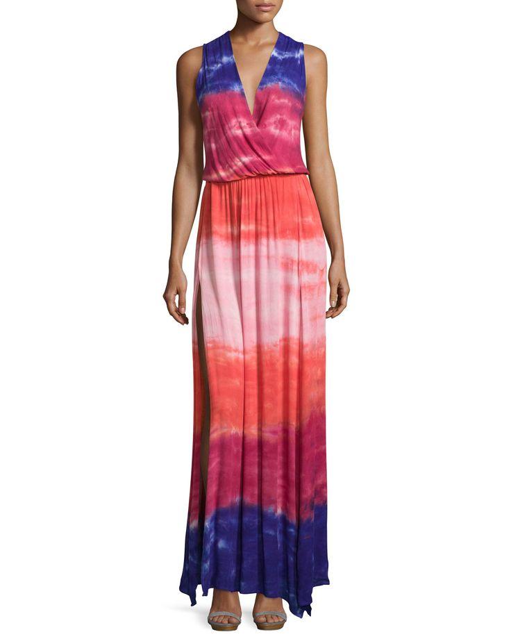 Young Fabulous and Broke Noel Stretch-Knit Maxi Dress, Purple Water Ripple, Women's, Size: Large, Purple Wat