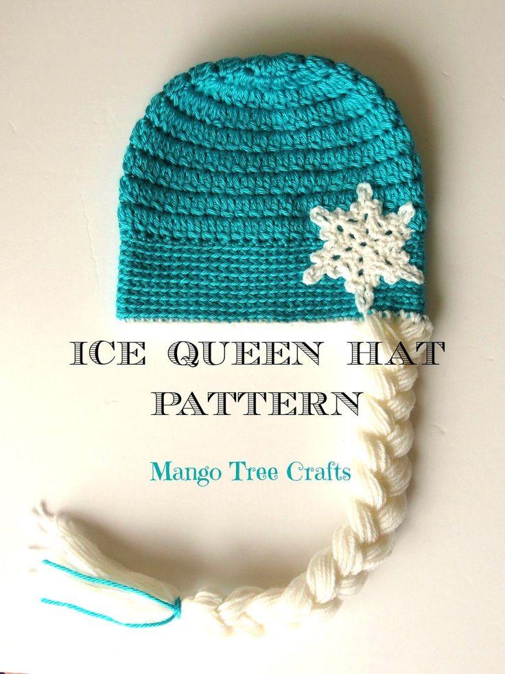 Elsa crochet hat pattern