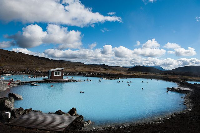 Lake Myvatn nature baths, Iceland by 18%_silver, via Flickr